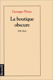 Cover of: La boutique obscure: 124 rêves