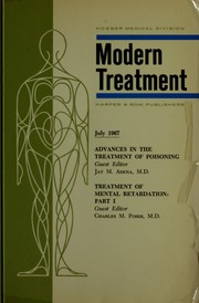 Advances in the treatment of poisoning