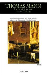 Cover of: La Mort à Venise
