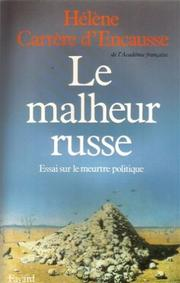 Cover of: Le malheur russe