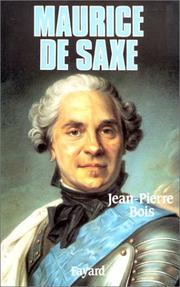 Cover of: Maurice de Saxe