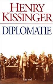 Cover of: Diplomatie