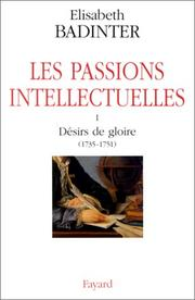 Cover of: Les passions intellectuelles