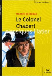 Cover of: Le Colonel Chabert
