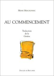 Cover of: Au commencement