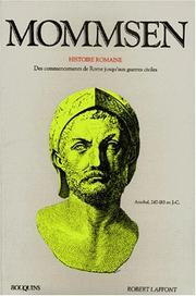 Cover of: Mommsen, tome 1: Histoire romaine