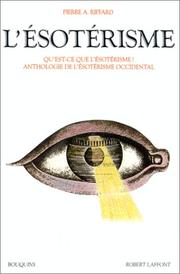 Cover of: L' ésotérisme