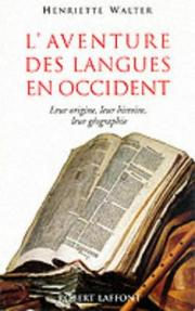 Cover of: L' aventure des langues en Occident