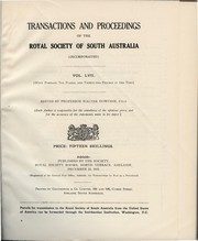 Cover of: Transactions and proceedings of the Royal Society of South Australia (Incorporated) | Royal Society of South Australia