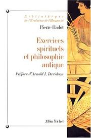 Exercices spirituels et philosophie antique by Pierre Hadot