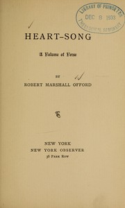 Cover of: Heart-song by Robert Marshall Offord