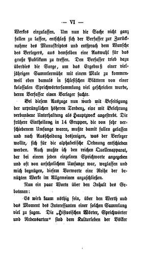 Historische Worter Sprichworter Und Redensarten 1866 Edition Open Library