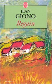 Regain by Jean Giono