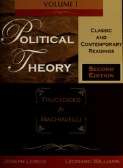 Cover of: Political theory | Joseph Losco