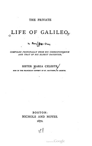 The private life of Galileo by