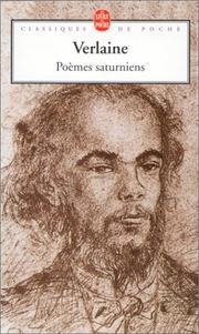 Cover of: Poemes saturniens