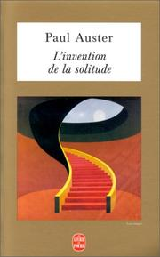 Cover of: L'Invention de la solitude