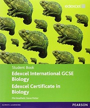 Cover of: Edexcel International GCSE Biology Student Book with ActiveBook CD | P Bradfield