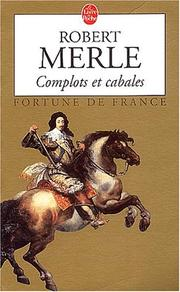 Cover of: Complots et cabales
