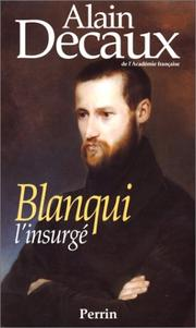 Cover of: Blanqui, l'insurgé