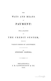 Cover of: The ways and means of payment | Stephen Colwell