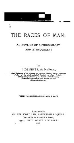 The races of man by Joseph Deniker