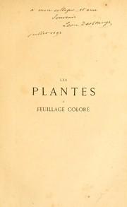 Les plantes a feuillage coloré