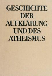Geschichte der Aufklärung und des Atheismus.