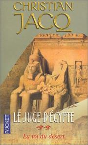 Cover of: Le Juge D'Egypte