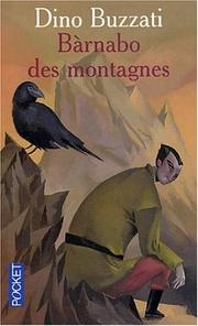 Cover of: Barnabo des montagnes