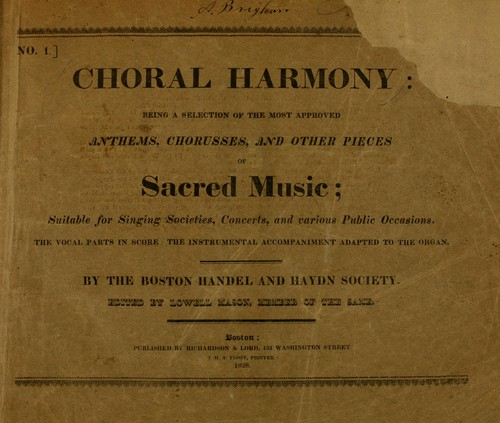 Choral harmony by Mason, Lowell