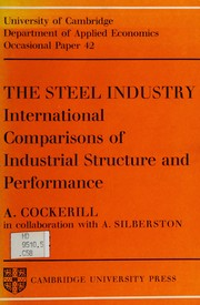 Cover of: The steel industry | Anthony Cockerill