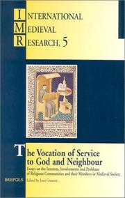 Cover of: The vocation of service to God and neighbour
