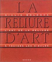 Cover of: La Reliure d'art