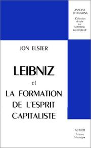 Cover of: Leibniz et la formation de l'esprit capitaliste