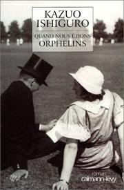 Cover of: Quand Nous Etions Orpheli