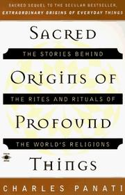 Cover of: Sacred origins of profound things