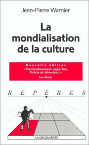Cover of: Mondialisation de la culture