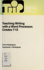 Cover of: Teaching writing with a word processor | Dawn Rodrigues