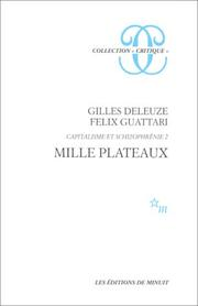"Cover of: Mille Plateaux (Collection ""Critique"")"