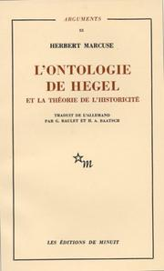 Cover of: L'Ontologie de Hegel