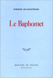 Cover of: Le Baphomet