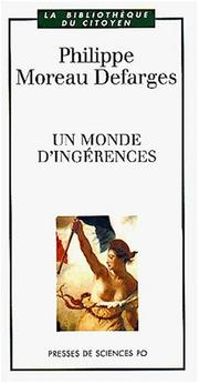 Cover of: Un monde d'ingérences