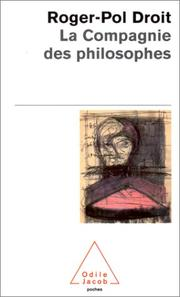 Cover of: La Compagnie des philosophes
