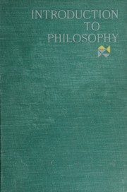 Introduction to philosophy.