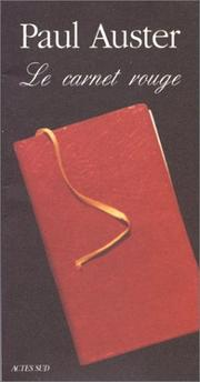 Cover of: Le carnet rouge