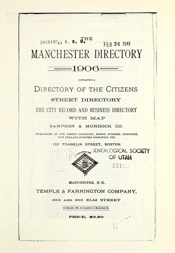 Polk Manchester, New Hampshire, city directory by