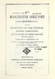 Cover of: Polk Manchester, New Hampshire, city directory |