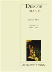 Cover of: Délicate balance
