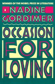 Cover of: Occasion for loving